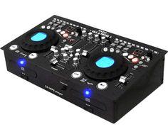 Ibiza Sound FULL STATION. Solution Tout-en-1: 2 lecteurs   table de mixage   ampli. Console de mixage professionnelle avec double lecteur CD-MP3 et contrôleur USB/SD. Compatible Audio CD, CD-R, MP3. 2 canaux CD, USB, lecteurs de cartes SD et 2 canaux LIGNE. 2 entrées micro, une en XLR et une en Jack 6.35mm. Entièrement programmable avec fonction de répétition. Location SONO Full Station CD/MP3/USB/SD à  Obermorschwihr (68420)_www.placedelaloc.com