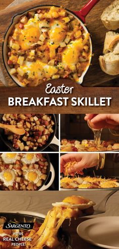 Whether you're making an Easter breakfast or just want to spice up your morning routine, feel free to put all your eggs in this basket. Our cheesy breakfast skillet is ready in six easy steps and can feed 2-4 guests, family members or ravenous Easter bunnies. All you need is olive oil, bacon, chopped potatoes, four eggs and your favorite variety of shredded-from-the-block cheese. Visit our site for the full recipe!