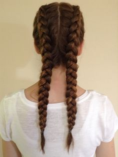 -Double Dutch braid- This is great for getting wavy hair I recommend this method !