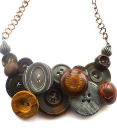 Funky Button Necklace