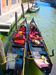 Two Gondolas in a Venetian Pod 8x10 by PositiveViews on Etsy, $15.00