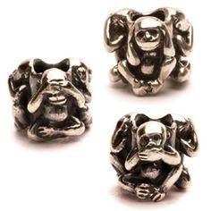 Troll Bead - three monkeys (1 bead - 3 sides)