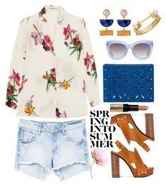 """""""Summer"""" by thestyleartisan ❤ liked on Polyvore featuring MANGO, Etro, Chloé, Kakao By K, Kenzo, Alice + Olivia and Bobbi Brown Cosmetics"""