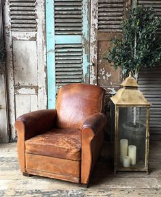 Lovely Vintage French Leather Club Chair in Home, Furniture & DIY, Furniture, Sofas, Armchairs & Suites | eBay