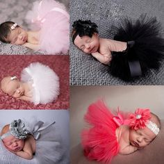 Red Culater/® Photography Prop Newborn Baby Girls Skirt Suit and Elastic Headband Gift Set