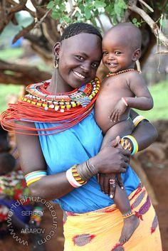 Africa | Samburu smiles.  Kenya | ©Sergey Agapov