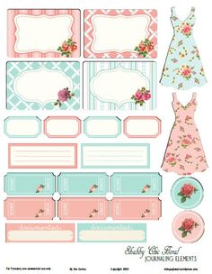 Free Shabby Floral Journal Elements