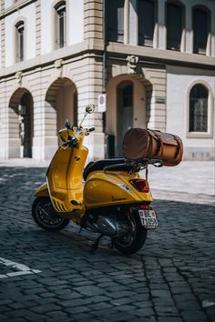 Honda Motorbikes, Motorcycle Images, Motor Scooters, Travel Images, Vespa, Yellow, Vehicles, Prints, Poster
