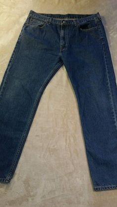 Levi's 505 Straight Leg Regular Fit Medium Wash Jeans Men's size 38 x 32 #Levis #StraightLegRegularFit