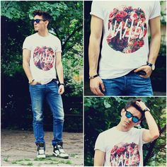 Zero Uv Mirrorized Shades, Wasted Tee, Diesel Slim Fit Jeans, Givenchy High Top Sneakers, Daniel Wellington Dw Watch, Saint Laurent Bracelet