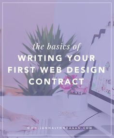 The Basics of Writing Your First Web Design Contract — Janna Hagan – Freelance Web & Graphic Designer from Toronto, Canada - Having a design contract is something that all freelancers need. It's definitely boring to talk - Design Websites, Web Design Tips, Web Design Trends, Web Design Company, Web Design Inspiration, Design Basics, Blog Design, Web Design Tutorial, Diy Design