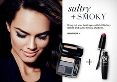 AVON GET THE LOOK -All about sultry & smoky eyes. Visit www.youravon.com/my1724 to order these products! #AVON #TRUECOLOREYESHADOW #AVONQUADEYESHADOW #SHOPONLINE #SHOPAVONONLINE #AVONSALES #AVONEYESHADOW #EYEMAKEUP #SHOPONLINE #WOMEN #COLLEGESTUDENT #WEDDING #GIFTS #SHOPONLINE