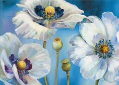 Flower Painting_By Lisa Audit_(94 item) All together | Blisse Design Studio