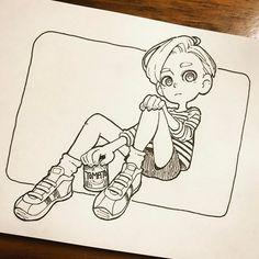トマト好きな少年 - moni-o-inom Character Drawing, Character Illustration, Illustration Art, Character Design, Illustration Fashion, Anime Drawings Sketches, Cute Drawings, Cartoon Drawings, Cute Art Styles