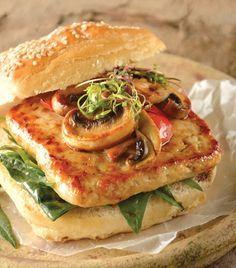 Hamburguesa de pollo y hongos - Una deliciosa receta para el fin de semana.