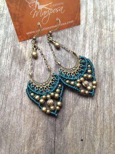 Micro macrame earrings emerald green jewelry bohemian macrame jewelry micromacrame