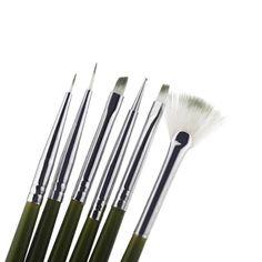 New 6Pcs Nail Brush Nail Art Design Painting Tool Pen Polish Brush Set Kit DIY Professional Nail Tools