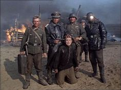"""""""Come and See,"""" 1985. The Nazi occupation of  Byeloruss was particularly savage. In this Soviet film, Florian, a naive teenager anxious to join the partisans, and Glasha, a village beauty, end up together, wandering a landscape that resembles hell on earth. Every frame of this film thunders with powerful, unforgettable images. The almost medieval world of the peasants is in stark contrast to the mechanized death brought by the Nazis. There are moments of lyricism that are just overwhelming. In a rain drenched forest, Glasha stands on a log and dances the Charleston. The title comes from  The Apocalypse of John:        And when he had opened the fourth seal, I heard the voice of the fourth beast say, Come and see. And I looked, and behold a pale horse: and his name that sat on him was Death, and Hell followed with him."""