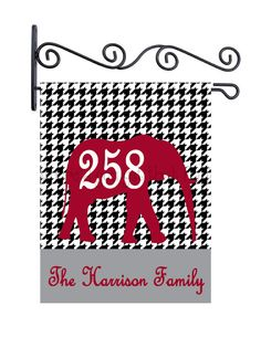Alabama, Roll Tide, Garden Flag, Custom Personalized Garden Sign by Wheredyougetthatflag on Etsy, $25.00