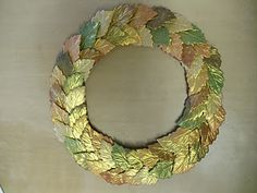 Makin's No Bake Polymer Clay  and Earth Safe Finishes Shimmer Gold Powder wreath tut