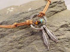 Dream Catcher Anklet or Bracelet Natural Colors by MidnightsMojo, $16.00