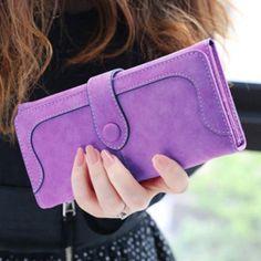 2e115808bd New Arrive 2016 Fashion Retro Matte Stitching Wallet Women Brand Long Purse  Clutch Women Casual Hasp Dollar Price Wallet Handbag