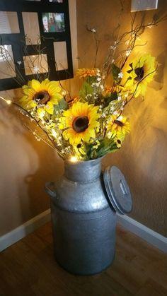 My Sunflower Milk Can My Sunflower Milk Can - Modern Sunflower Themed Kitchen, Sunflower Bathroom, Sunflower Room, Sunflower Kitchen Decor, Sunflower Decorations, Country Decor, Farmhouse Decor, Cheap Home Decor, Diy Home Decor