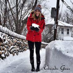 canada goose red montebello parka