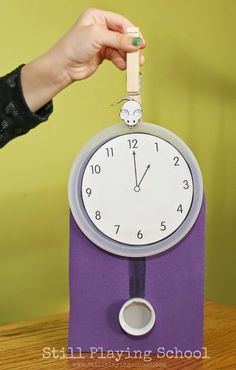 Still Playing School: Hickory Dickory Dock Clock Craft & Time Telling Activity for Kids