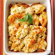 Take a peek at this yummy pasta-stuffed shell recipe! If you're in search for a filling meal, this delicious dish is just for you. It's quick. It's easy. It's a meal that the entire family can enjoy.
