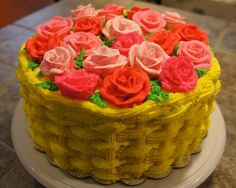 - Roses Basketweave cake