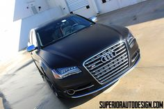 2013 Audi S8 Wrapped in Matte Black..
