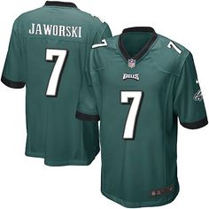 8791a8ceadb Nike Game Ron Jaworski Midnight Green Men's Jersey - Philadelphia Eagles #7  NFL Home