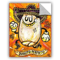 "ArtWall Jorge Gutierrez Burrito Perfeco Wall Decal Size: 32"" H x 24"" W x 0.1"" D"