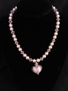 Pearls and Heart Necklace. $8.50, via Etsy.