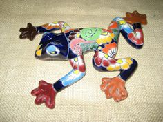 Talavera Tile Frog Multi Color Hand Painted Great Mexican Pottery Xmas Gift | eBay