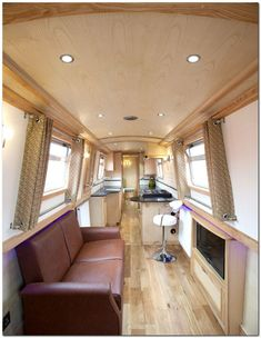Canal Boat / Narrowboat Televisions - taken by www. - The Resource and Directory for Canal Boat Buying, Planning and Building Canal Boat Narrowboat, Canal Boat Interior, Narrowboat Interiors, Wooden Boat Plans, Boat Building Plans, Tiny House Movement, Boat Design, Small Boats, Rustic Design