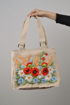 Large bag made of natural fabrics