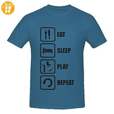Eat Sleep Play Repeat Black Graphic Men's T-Shirt XX-Large (*Partner-Link)