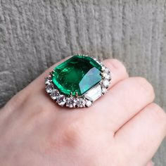 Nothing brightens up a Monday like a 28-carat emerald ring (from our May 18 Geneva sale).