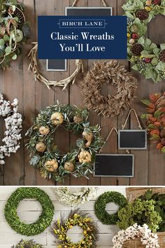 """The best way to """"ring"""" in the season? With wreaths that pull inspiration from the forest and fields. Find these styles and more at Birch Lane, and enjoy Free Shipping on all orders over $49. Sign up now to learn more about our exclusive offerings!"""