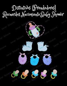 Decoración para lápiz, distintivos,prendedores , recuerdos nacimiento,baby shower foami, bebe. Elaborados por Isamar Belisario