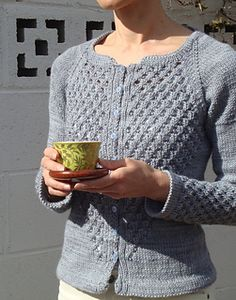Grey diamond cardigan
