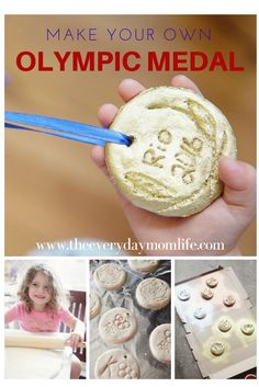 Go for the GOLD! Make your own Olympic Medals for your kids with this simple recipe.