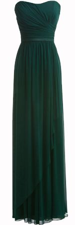 Dark Green Bridesmaid dress for Autumn Fall wedding