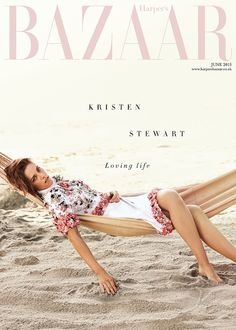 Kristen Stewart in a floral embellished dress For Harper's Bazaar UK // Photo: Alexi Lubormirski for Harper's Bazaar UK