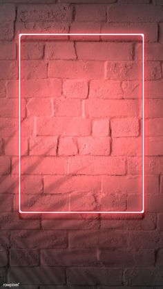 premium image of Neon red frame on a brick wall 894328 Framed Wallpaper, Neon Wallpaper, Phone Screen Wallpaper, Graphic Wallpaper, Aesthetic Iphone Wallpaper, Aesthetic Wallpapers, Brick Wall Wallpaper, Wallpaper Quotes, Marco Polaroid