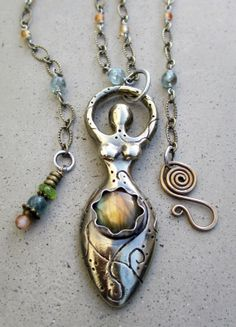 Light Worker Goddess with Labradorite by SilviasCreations, $179.00