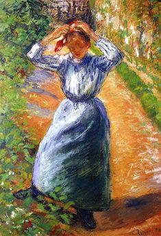Peasant Donning Her Marmotte Camille Pissarro - 1882