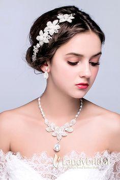 アクセサリー 髪飾り イヤリング ネックレス お花形 ウェディング小物 結婚式 花嫁 JJ0015014 税込: ¥9,180